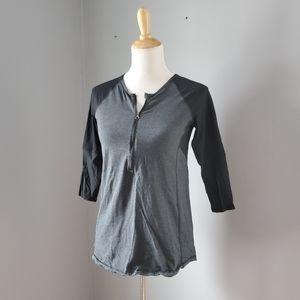 Lululemon 3/4 Sleeves Technical Top Grey Size 6